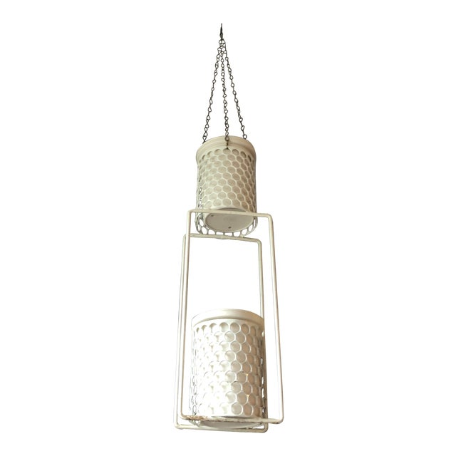 Mid 20th Century Hanging Plant Basket For Sale