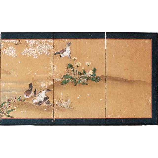17th-18th C. Japanese Twelve-Panel Byobu Screen For Sale - Image 9 of 13