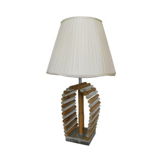 Astrolite Mid Century Modern Bamboo & Lucite Ritts Co. Lamp For Sale