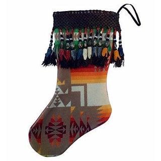 Native American Style Blanket Christmas Stocking