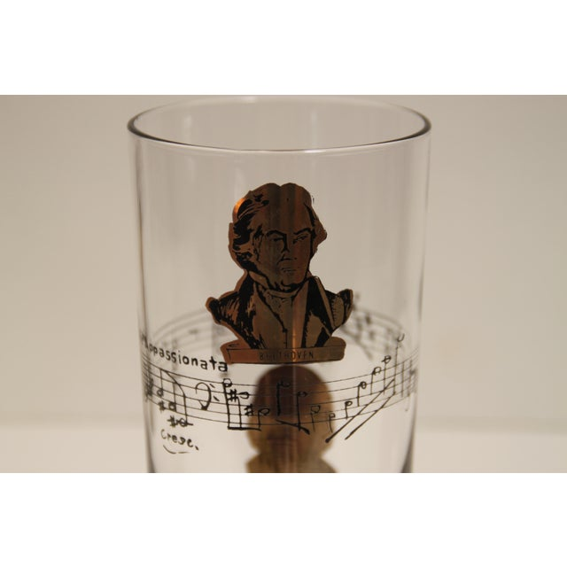 Classical Composers Glasses - Set of 8 For Sale - Image 5 of 5