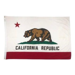Vintage Cotton California Republic Flag For Sale