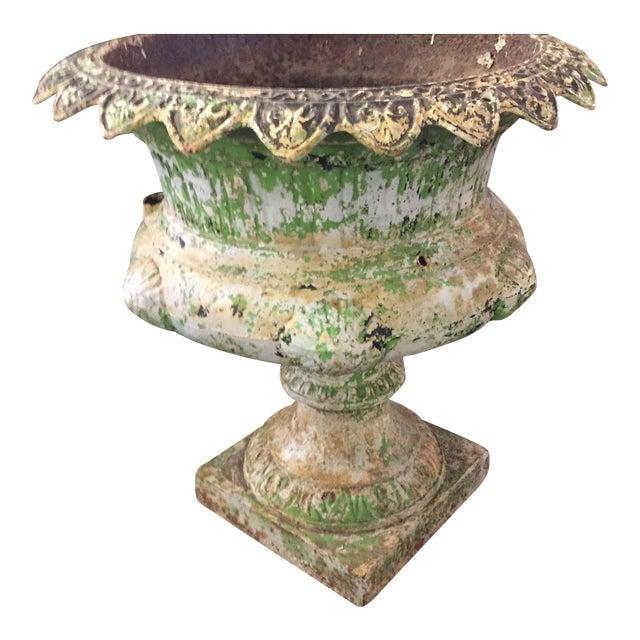 19th-C. Victorian Cast Iron Urn - Image 1 of 4