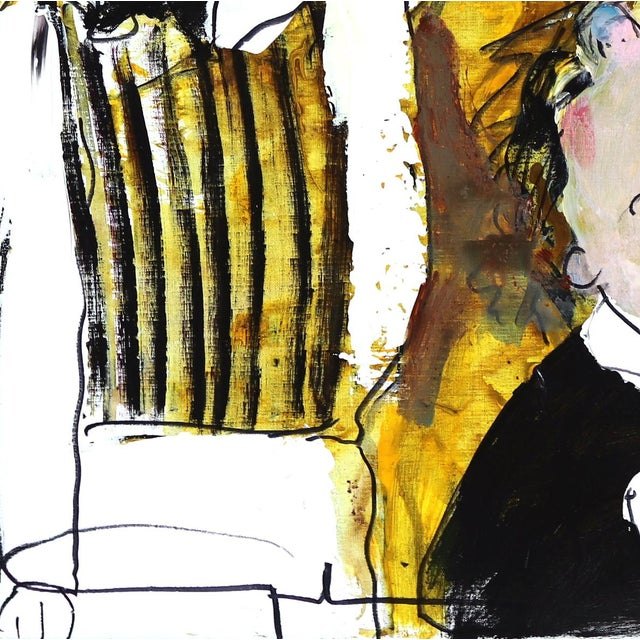 """Original Figurative Abstract Artwork by Gerdine Duijsens """"The Waiter"""" For Sale - Image 9 of 9"""