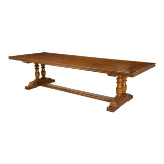 French Inspired Walnut Dining Table For Sale