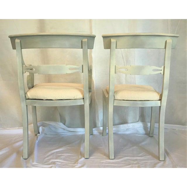 White 1940s Gustavian Ivory Klismos Dining Chairs - Set of 6 For Sale - Image 8 of 10