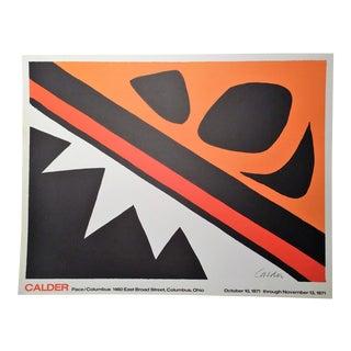 1971 Alexander Calder Original Exhibition Poster