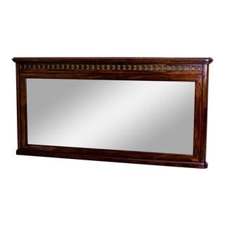 19th-Century Biedermeier Mahogany Mirror For Sale