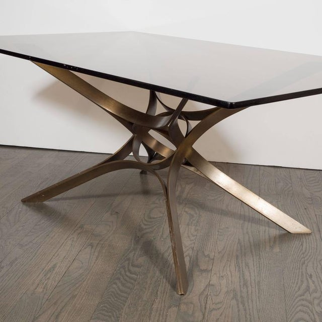 Mid-Century Cocktail Table in Bronze and Glass by Roger Sprunger for Dunbar For Sale In New York - Image 6 of 7