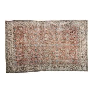 "Vintage Distressed Sparta Carpet - 5' X 7'9"" For Sale"
