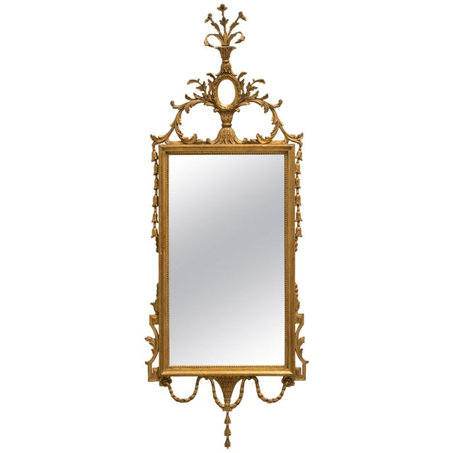 Gold Italian Giltwood Mirror For Sale - Image 8 of 8