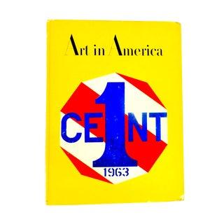 April 1963 Art in America, 50th Anniversary Book For Sale