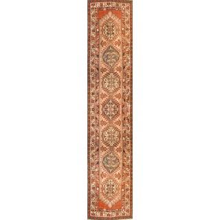 1910s Antique Persian Serab Runner-3′2″ × 11′ For Sale