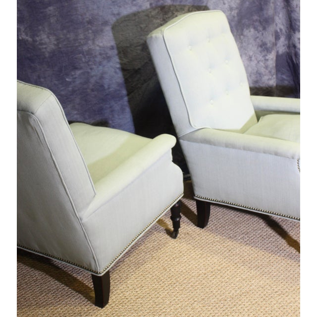 Wood Scalamandre Furniture Club Chairs- A Pair For Sale - Image 7 of 11