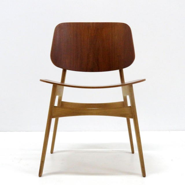 1950s Set of 5 Børge Mogensen Dining Chairs, 1950s For Sale - Image 5 of 13