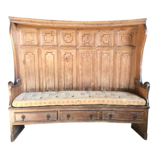 English Georgian Tavern Settee or Storage Bench For Sale