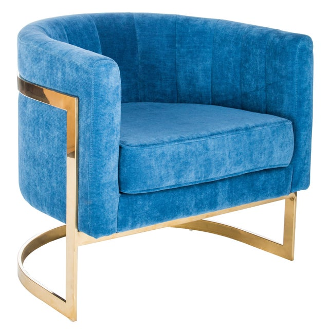 Mica Gold Club Chair - Image 1 of 2