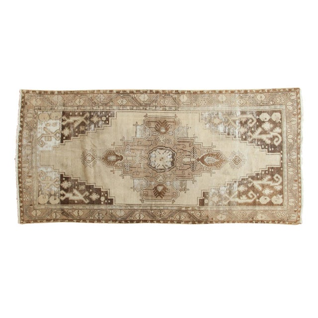 "Vintage Distressed Oushak Rug Runner - 4'9"" x 10'2"" For Sale - Image 11 of 11"