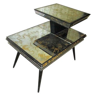 Mirrored Mid-Century Side Table
