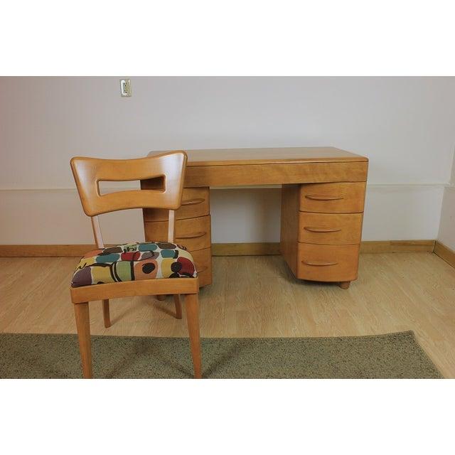 Heywood-Wakefield Kneehole Desk & Chair - Image 3 of 9