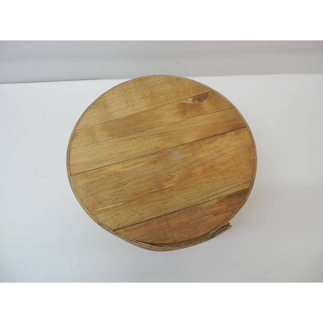 """Large Rustic and Primitive Round Cheese Box Primitive round cheese box with lid Size: 11.5"""" D x 5.75"""" H"""
