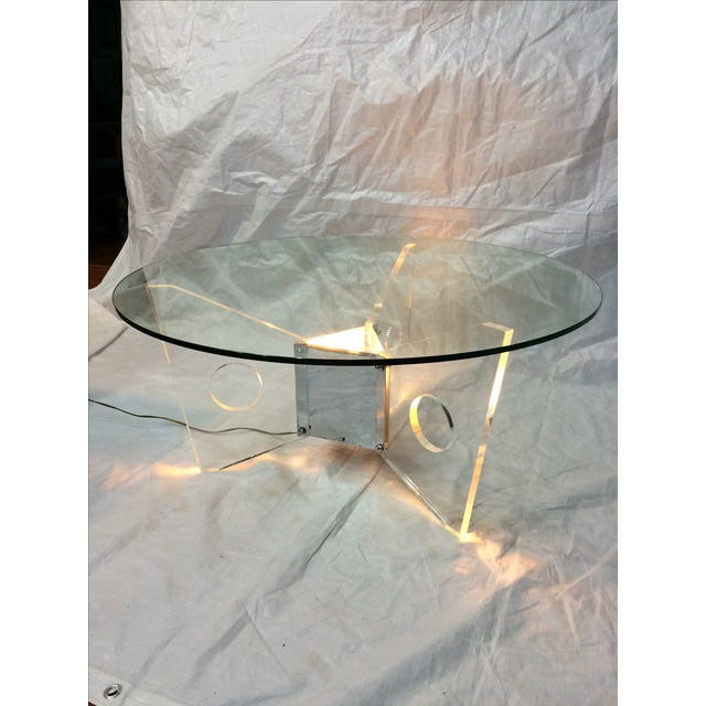 Light-Up Lucite Coffee Table - Image 2 of 9