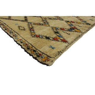 Mid-Century Modern Vintage Beni Ourain Moroccan Rug with Tribal Style Preview