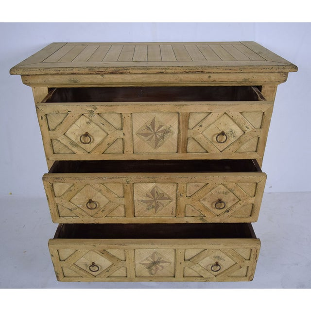 1970s Baroque Style Bleached Wood Chest of Drawers For Sale - Image 9 of 10