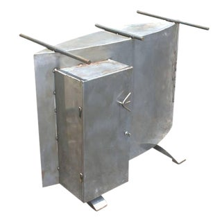 Sculptural Postmodern Metal Table Display Desk