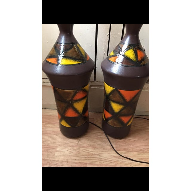 Mid-Century Modern 1960s Aldo Londi for Bitossi Lamps - a Pair For Sale - Image 3 of 6