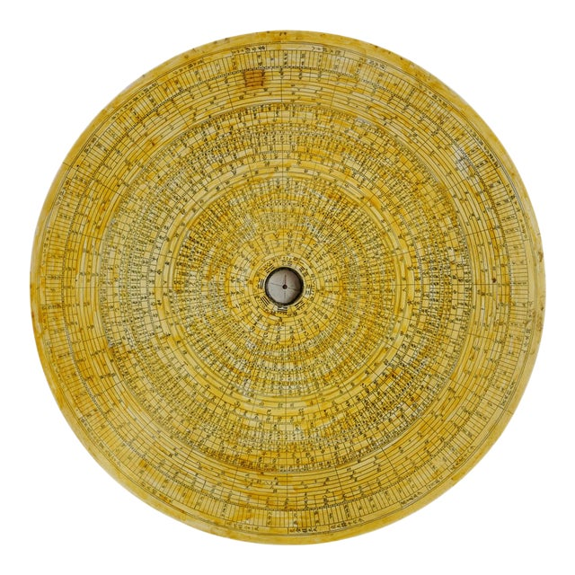 Vintage Chinese Astronomy Map Disk For Sale