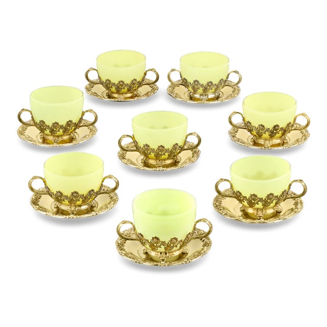 Mid 20th Century Royal Chrysanthemum Silver Gilt Teacups and Saucers by Tiffany & Co. - Set of 8 For Sale - Image 5 of 5