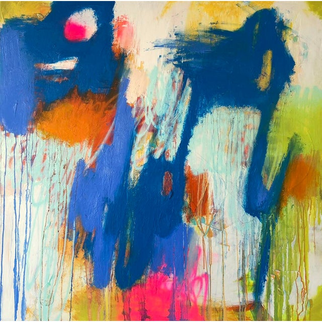 """Moving On"" Abstract Oil Painting by Mirtha Moreno For Sale In West Palm - Image 6 of 6"