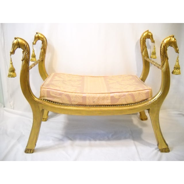 Gilded Horses Window Bench - Image 7 of 10