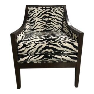 Robert Allen Duralee Zebra Harrington Chair For Sale