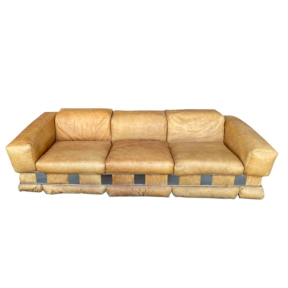 1970s Adrian Pearsall Leather Sofa For Sale - Image 5 of 5
