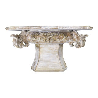French Carved Wood Dining or Center Table, Circa 1930s For Sale