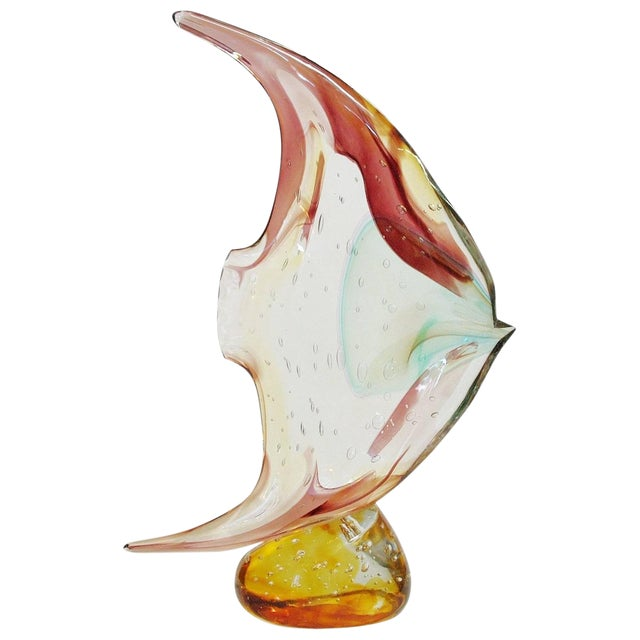 1990s Vintage Fish on Pebble Sculpture by Sergio Costantini For Sale
