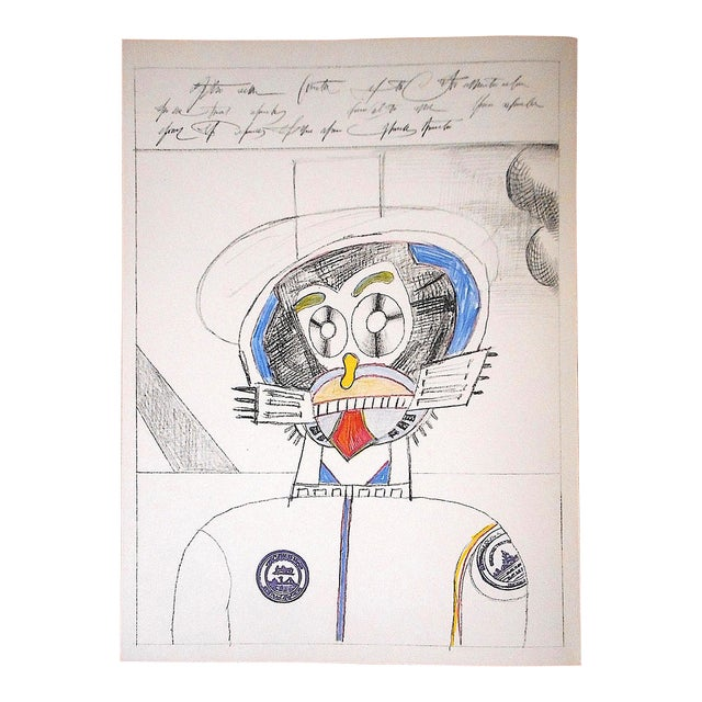 Vintage Mid 20th C. Ltd. Ed Lithograph From Derriere Le Miroir No.205-Saul Steinberg-1973 For Sale