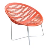 Image of Mid Century Orange Crush Solair Chair For Sale
