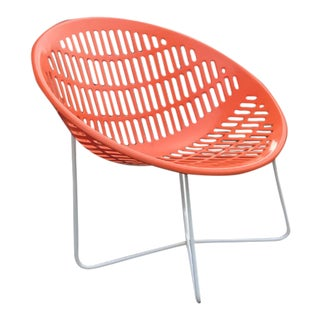 Mid Century Orange Crush Solair Chair For Sale