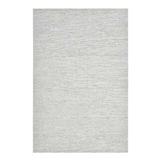 Lauren, Contemporary Modern Hand Loomed Area Rug, Silver, 8 X 10 For Sale