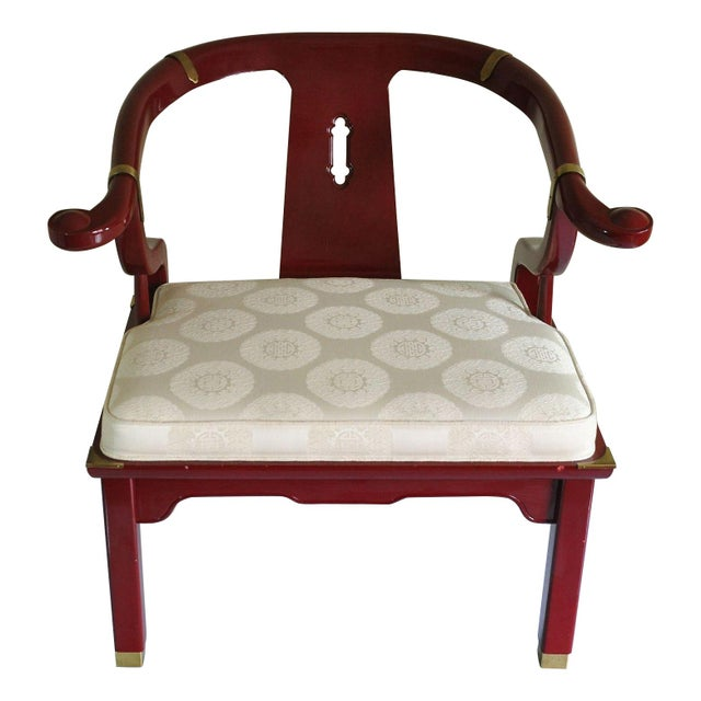 Century Red Lacquer Ming Chair - Image 1 of 8