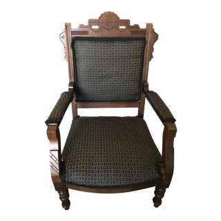 Reupholstered Eastlake Victorian Chair