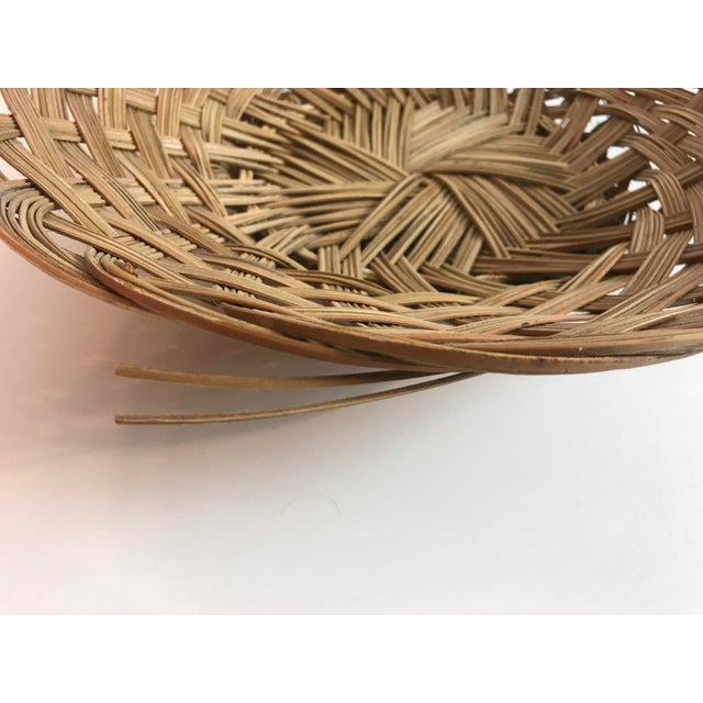 Wicker Wicker Wall Hanging Baskets - Set of 5 For Sale - Image 7 of 8