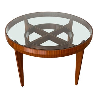 Ico Parisi Style Italian Walnut Center Table / Dining Table For Sale