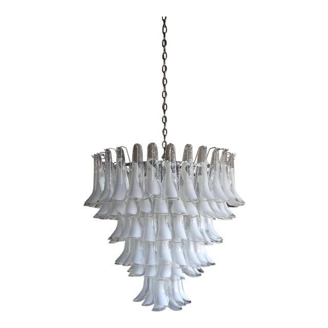 "Mazzega Large Scale Murano "" Selle "" Glass Chandelier Circa 1988 For Sale"
