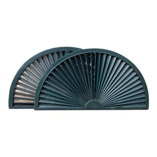 1950s Architectural Salvage Arched Shutter Panels - a Pair For Sale