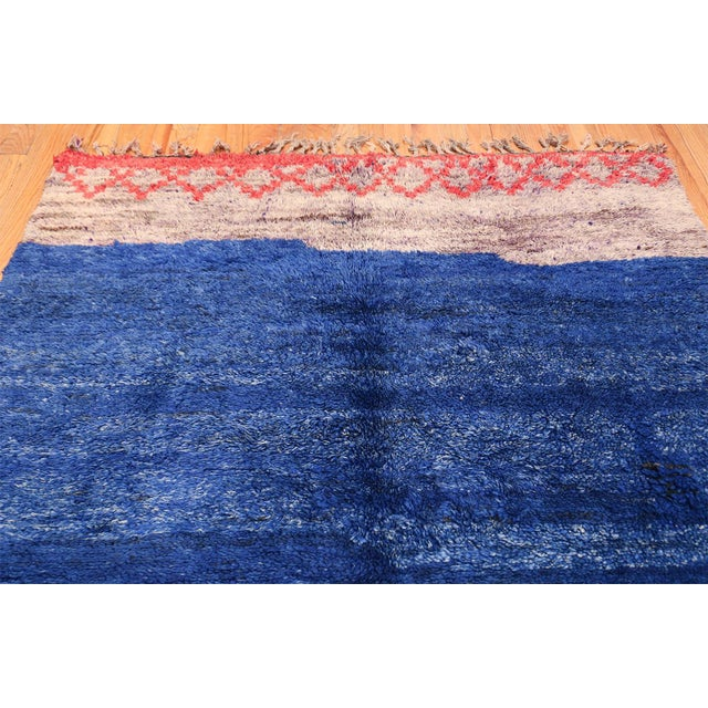 Vintage Moroccan Rug - 6′ × 8′9″ For Sale - Image 10 of 11