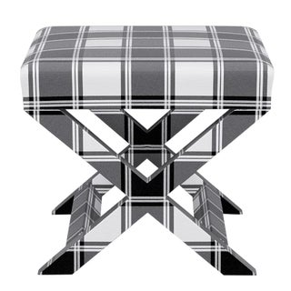 X Bench in White Tartan For Sale